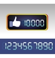 like counter for social media page vector image
