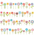 big set of flowers vector image