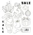 Christmas sale set vector image