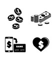 cryptocurrency simple related icons vector image