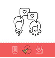 dating messenger icons love messaging dialogue vector image