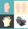 hand and gloves flat design vector image