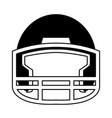 helmet football equipment sport image vector image
