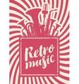 inscription retro music vector image