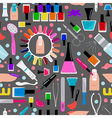 Manicure nail salon Seamless pattern vector image