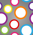 Seamless pattern of white circles with colorful vector image
