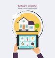 Smart house Home control application concept Hand vector image