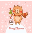 Stylish Christmas card in vector image