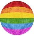 Gay pride Ball in mosaic vector image