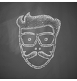 face male icon vector image