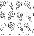 seamless pattern from flowers vector image