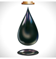 large oil droplet vector image