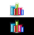 Colorful skyscrapers- logo for property business vector image vector image