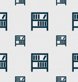Bookshelf icon sign Seamless pattern with vector image