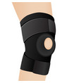 bandage on an aching knee vector image
