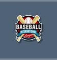 baseball emblem baseball logo vector image