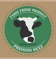 butcher shop sign silhouette vector image