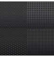 Four repeat seamless carbon patterns vector image