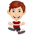Little boy wearing a red shirt cartoon vector image
