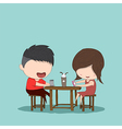 Male and girl teens vector image