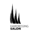 modern creative logo for hairdressers vector image