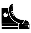 sneakers hipster shoes icon  simple style vector image