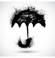 Umbrella grunge sketch vector image vector image