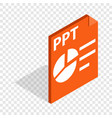 Ppt file extension isometric icon vector image