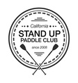 Logo template for stand up paddling athletic vector image