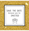 Party invitation template vector image