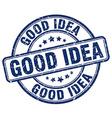good idea blue grunge round vintage rubber stamp vector image