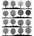 Collection of trees3 vector image vector image