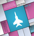 fighter icon sign Modern flat style for your vector image
