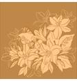 flower background monochrome vector image