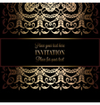 Invitation decorative 23 vector image