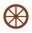 Old wooden vintage wheel from cart transportation vector image
