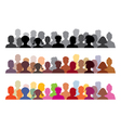 set of audience s vector image