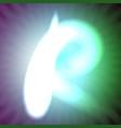 single light blue neon letter r of vector image