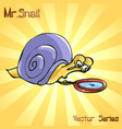 mr snail with search vector image