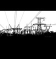 electric towers isolated on white background vector image