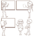 Teachers vector image