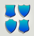 3d blue set of badges and labels vector image