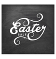 Easter Sale Typographical Text on Chalkboard vector image