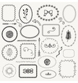 Hand Sketched Rustic Frames Borders vector image