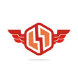 Logo electricity power wings icon design symbol vector image