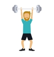 male athlete practicing weight lifting isolated vector image