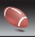 american striped football ball diagonal position vector image