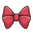 bow cute female icon vector image