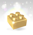 Golden construstion block award vector image