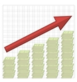 Growth of Dollars American Banknotes Cash Money vector image